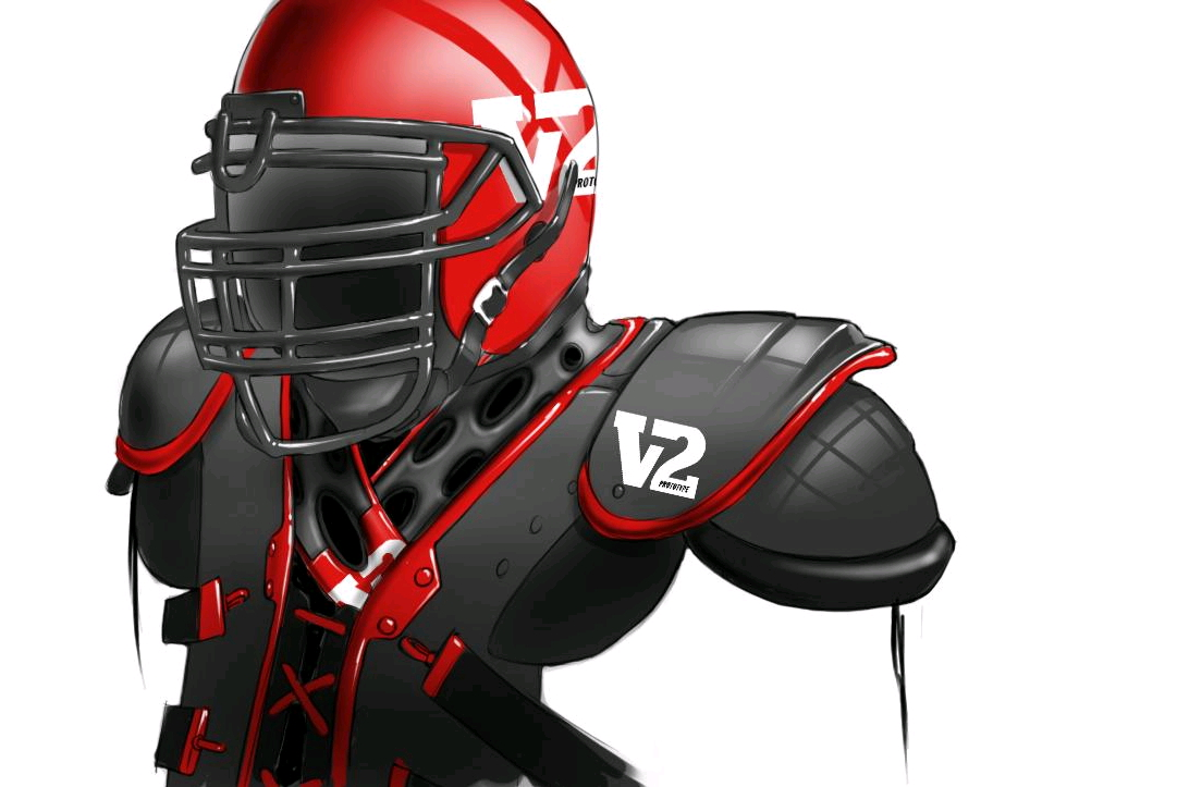The V2 Prototype Football Helmet And Neck Torso One Piece Attachment