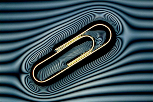 floating paper clip