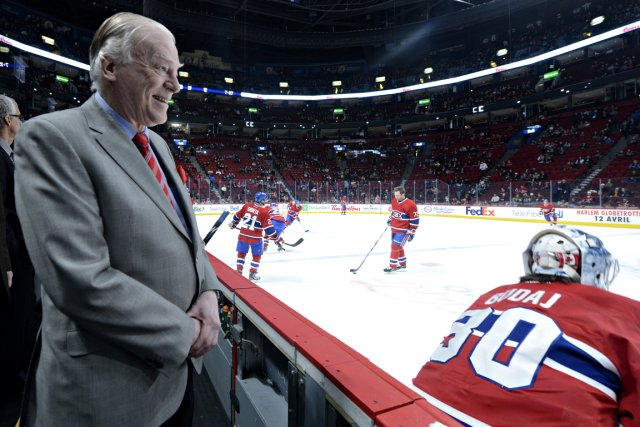 Dr David Mulder at ice level of the Bell Center as physician of Les Canadiens de Montreal