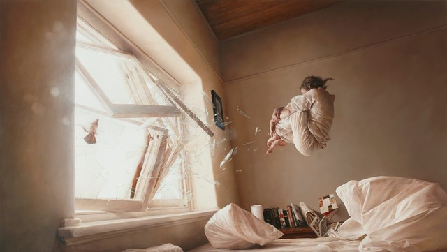 astronaut gravity Paintings-by-Jeremy-Geddes