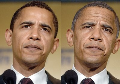 FACE aging OBAMA