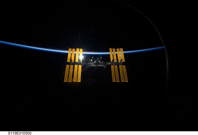 ISS station_backlit