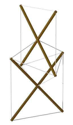Snelson 1948 X-Module sculpture