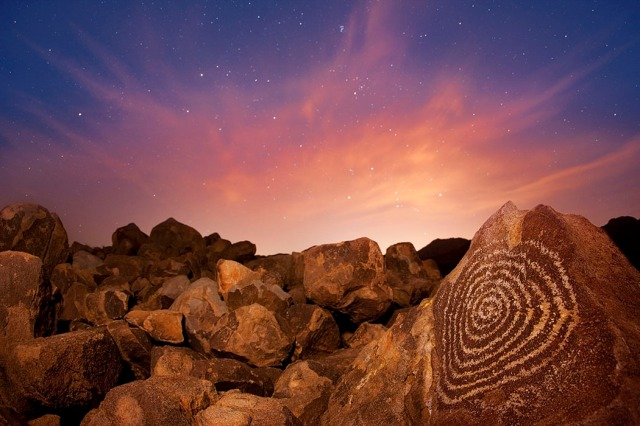 SPIRAL The Solstice - Hohokam Indian Spiral Petroglyph | Fine Art Photography by Stephen W. Oachs the-solstice