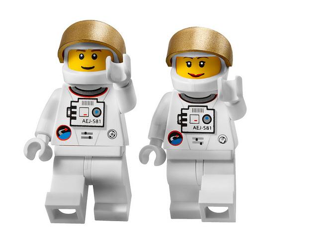 lego man women astronaut